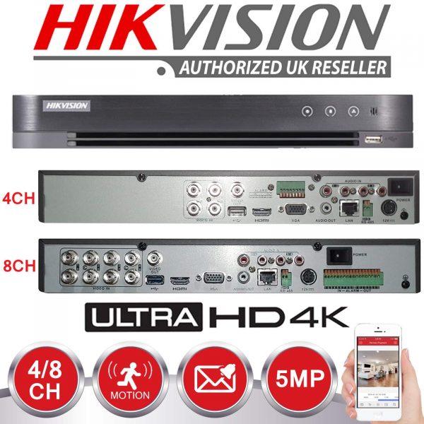 HIKVISION 5MP CCTV SYSTEM UHD 2K DVR 4CH 2.8MM VANDAL PROOF OUTDOOR EXIR CAMERA KIT 2