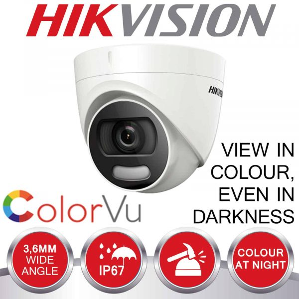 HIKVISION CCTV SYSTEM 4CH 8CH DVR COLOUR AT NIGHT 5MP CAMERA 2