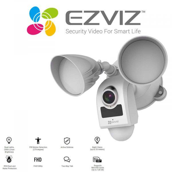 EZVIZ LC1 HD Smart Wifi Security Light and CCTV Camera including installation 1