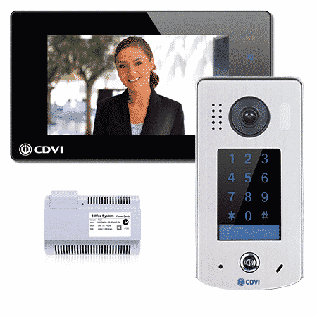 CDVI 2EASY 1-way entry with keypad, black or white, with mobile app 2