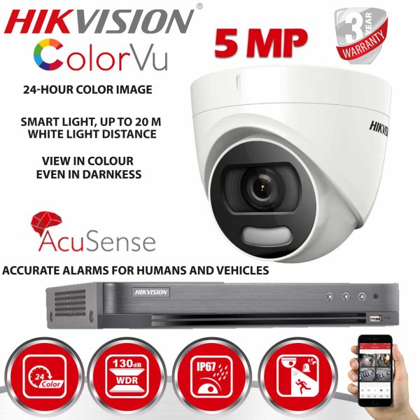 HIKVISION CCTV SYSTEM COLOUR AT NIGHT WITH ACUSENSE INCLUDING INSTALLATION 1