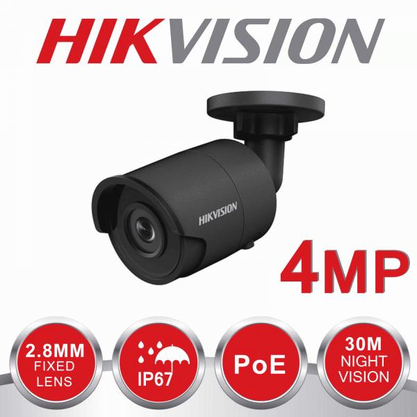 2X 4MP HIKVISION BULLET 2.8mm IP67 30m EXIR DS-2CD2043G0-I Grey 1