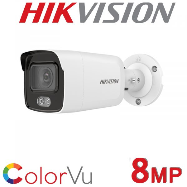 Hikvision AcuSense fixed lens 8MP colour bullet camera with audio DS-2CD2087G2-LU-2.8MM 1