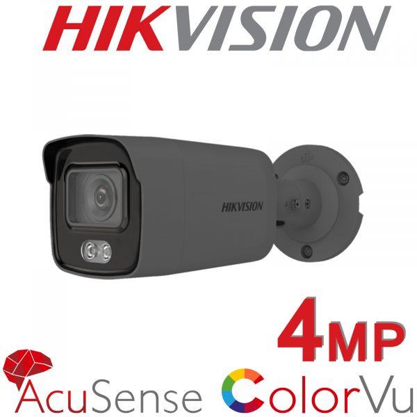 4MP HIKVISION COLORVU ACUSENSE BULLET INC MIC DS-2CD2047G2-LU 2.8MM GREY 1