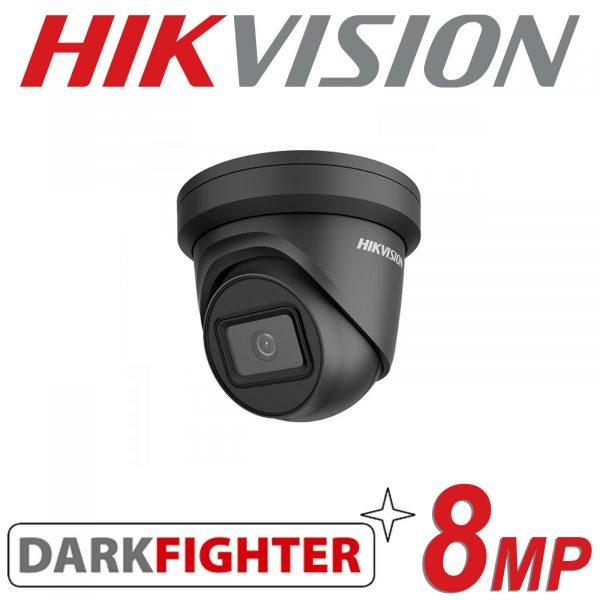 HIKVISION 8MP IP POE DOME TURRET DARKFIGHTER DS-2CD2385G1-I BLACK 2.8MM 1