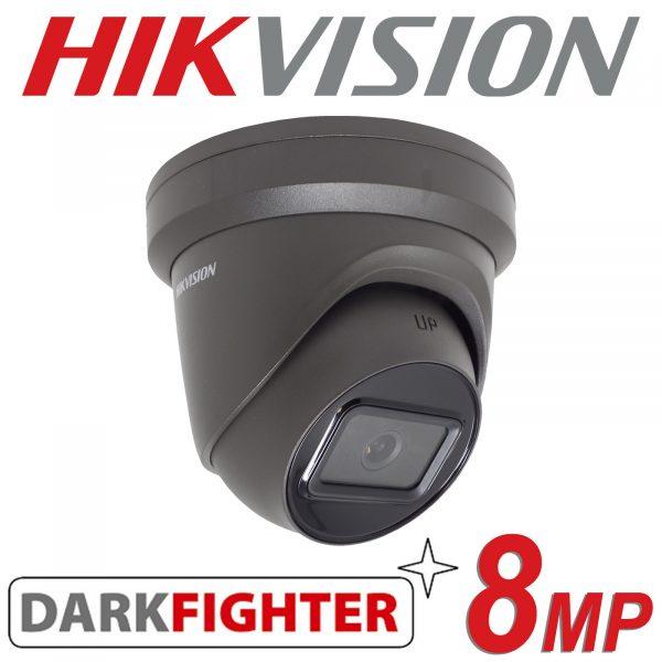 HIKVISION 8MP IP POE DOME TURRET DARKFIGHTER DS-2CD2385G1-I GREY 2.8MM 1