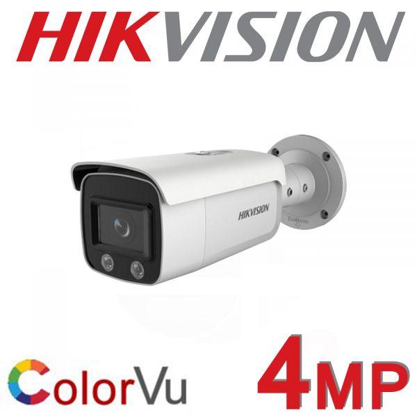 4MP HIKVISION COLORVU IP POE BULLET COLOURVU 4MM DS-2CD2T47G2-L 4MM 1