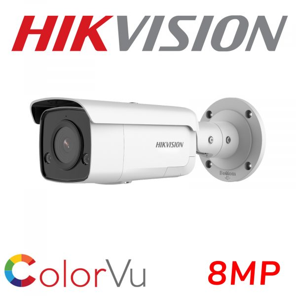 HIKVISION COLORVU AcuSense 8MP IP POE 4K BULLET DS-2CD2T87G2-L 2.8MM 1