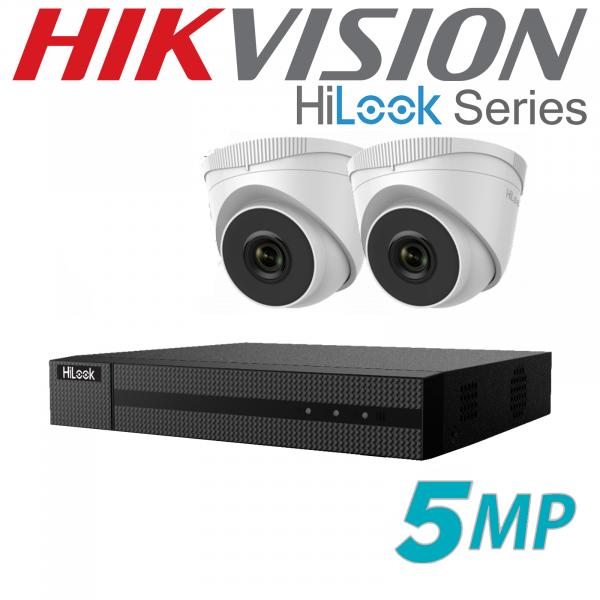 5MP HILOOK IP POE CCTV SYSTEM NVR 2X CAMERA INCLUDING INSTALLATION 1