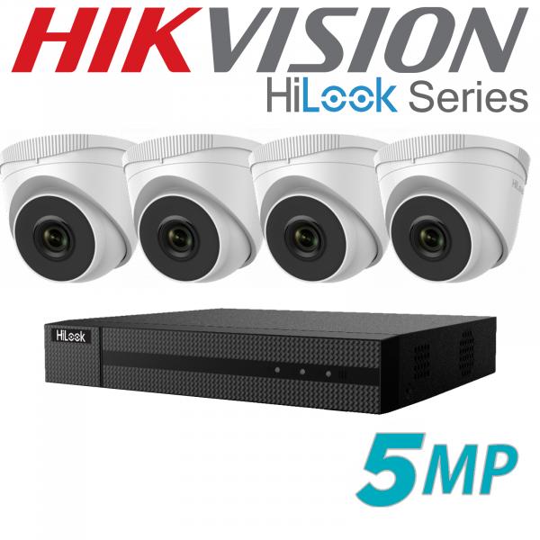 5MP HILOOK IP POE CCTV SYSTEM NVR 4X CAMERA INCLUDING INSTALLATION 1