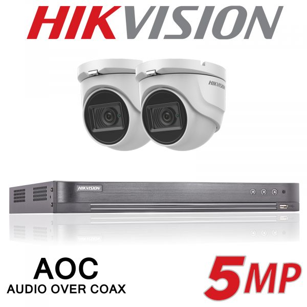 4CH HIKVISION 2X 5MP SYSTEM AOC DVR AUDIO 30M IR CAMERA INCLUDING INSTALLATION 1