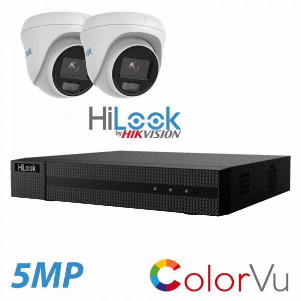5MP HILOOK IP POE ColorVu (color at night) SYSTEM NVR 2X CAMERA INCLUDING INSTALLATION 1
